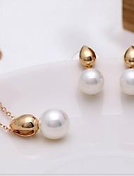 Mode alliage or / rhodium plaqué des femmes et bijoux Shell perles d'(1 PC)