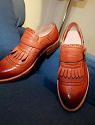 мужская кожаная низкий каблук комфорт бездельники обувь