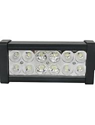 36W 6000K mistura duplo LED linhas de 12 Epistar trabalhar luz Bar DIY usado no carro / barco / farol Auto