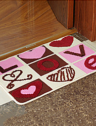 "Bath Mat Modern Love Pattern W16"" x L24"""