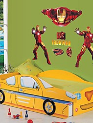 Doudouwo® Cartoon The Power Of Iron Man Wall Stickers