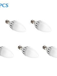 Ampoules Bougies LED Blanc Froid 5 pièces E14 5W 15 SMD 2835 450 LM AC 85-265 V