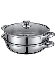 Debo® Dia 26cm(10.2inch) Stainless Steel Steamer Pot with Stainless Steel Glass Cover