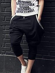 grande bolso moda masculina lesen novos esportivos três quartos calças soltas ocasionais comprimento S