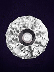 Stainless Steel Color Changing Solar LED Yard Light with Diamond Shape Stalinite Shade