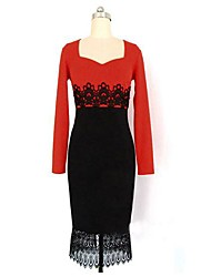 Women's Sexy Lace Sheath Dress , Sweetheart Knee-length Lace