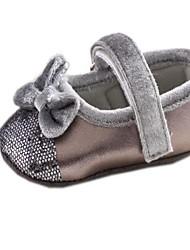 Toe plat rond de coton fille Mary Jane Appartements avec bowknot Chaussures