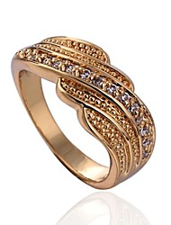 Statement Rings Cubic Zirconia 18K gold Fashion Gold Jewelry Party 1pc