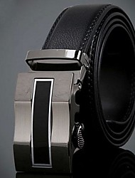 Men's Fashion Automatic Buckle Leather Belt