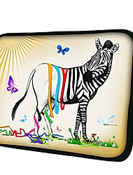 Elonno Butterfly and Zebra Neoprene Laptop Sleeve Case Bag Pouch Cover for 13'' Macbook Pro/Air Dell HP Acer
