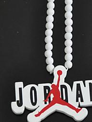 Fashion Hip Hop Jordan Fly Man White Wood Pendant Necklace(1 Pc)