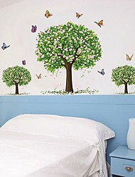 Createforlife® Dancing Butterflies Flower Tree Kids Nursery Room Wall Sticker Wall Art Decals