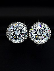 Women's New Fashion Jewelry 18K Gold Plated Inlay Zircon Crystal Earrings