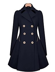 Women's Fashion Slim Double Breasted Trench Coat(Pocket Just for Decoration)