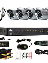 KARE 4CH P2P HDMI DVR & 4* CCTV Outdoor SONY CCD Cameras Security Surveillance System