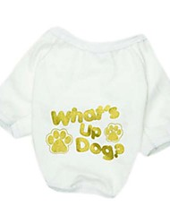 T-shirt style mignon Pied coton pour Animaux Chiens (Assorted Taille)