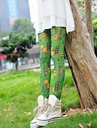 Modelos de dulces de colores leggings de malla fina cadena de las mujeres