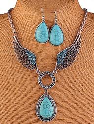 Parure collier et boucles d'oreilles - en Alliage/Strass/Gemme/Diamant - Vintage/Soirée/Tous les jours - Femme