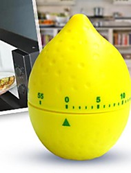 60 mins Lemon Shaped Mechanical Kitchen Timer Cooking Count Down