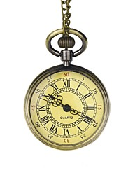 Groom Bronze Roman Numerals Vintage Pocket Watch With Gift Box