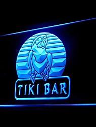 papagaio tiki bar publicidade levou sinal de luz