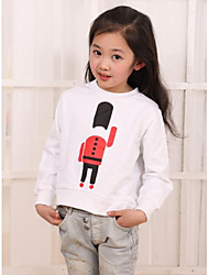 Girl Fashion Casual School Style Cartoon langen Ärmeln V-Kragen-Sweatshirt