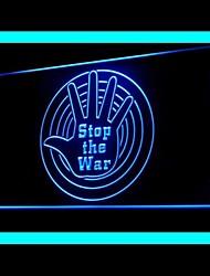 Parar Publicidade Guerra LED Sign