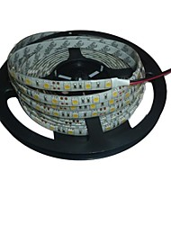 5m étanche 72w 300 * 5050 SMD 4800lm lumière blanche a mené la lampe de bande (dc12v)