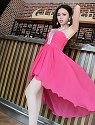 Strapless Bodycon mangas asimétrico vestido de las mujeres