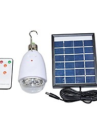 2W 22-LED Remote Control Solar Lighting System Mobile Phone Charge USB Output