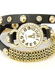 desafio u patente relógio ajustável couro volúvel