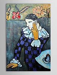 Hand Painted Oil Painting Museum Masters Paintings  Pablo Picasso Gentleman Painting  Reproduction with Stretched Frame