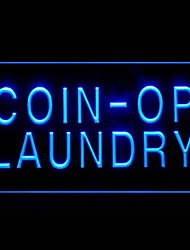 Coin-In Laundry Advertising LED Light Sign