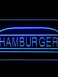 Hamburger di manzo Pane Pubblicità Light LED Sign
