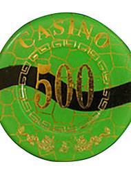 $ 500 blocage d'or arrondi puce de mahjong avec le signe anti-faux