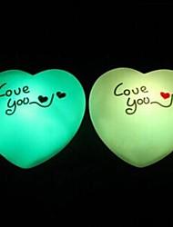 Coway fournitures de mariage de cadeau du jour de l'coloré valentine de lumière de nuit menée