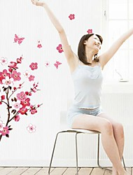Doudouwo® Florals The Beautiful Peach Blossom Wall Stickers