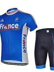 Ферран Мужская Франция весной и летом Стиль полиэстер с коротким рукавом Coolmax Paded Велосипед Велоспорт костюм