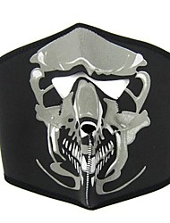 JSZ Cycling Polyester Black Big Ghost Mask