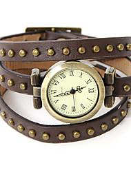 wagen u Frauen-pu analoge Quarz-Armbanduhr