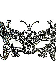 Sexy Butterfly Style Black Metal Halloween Masquerade Mask