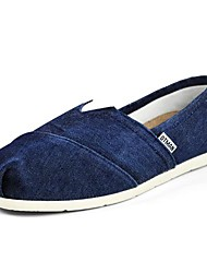 Men's Spring Summer Fall Comfort Canvas Outdoor Casual Flat Heel Lace-up Grey Navy