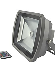 60W LED RGB Waterproof Aluminium Flood Light with IR Remote Controller AC85-265V