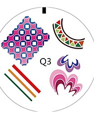3D Nail Art Toe Manicure Tools Abstract Design Nails Stamp Plate Image Hot