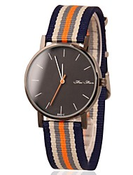Men's Watch Dress Watch Stylish Colorful Canvas Band Wrist Watch Cool Watch Unique Watch
