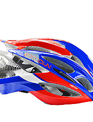 Boodun 21 Vents Red Blue Road Bike Integrally-molded Cycling Helmet(56-62cm)