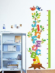 Createforlife® Alphabet Letters Tree Height Chart Kids Nursery Room Wall Sticker Wall Art Decals