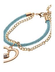 Vintage Multicolor Heart Shape Charm Bracelets(1 Pc)