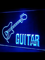 Guitar World Advertising LED Light Sign