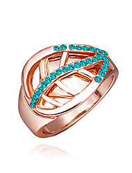 Taomeng Rose Gold Leaf Ringe R0186